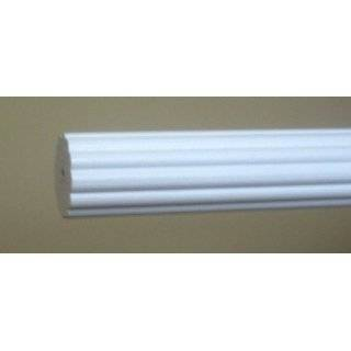 Button Wood Finial in White finish for a 1 3/8 dowel rod