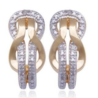 18k Yellow Gold Plated Sterling Silver Diamond Accent