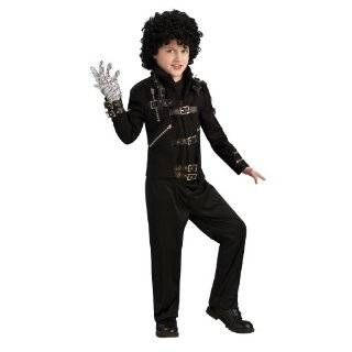 Michael Jackson Costume, Childs Bad Black Buckle Jacket Costume