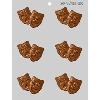 COMEDY & TRAGEDY LOLLY MASK Jobs Candy Mold Chocolate