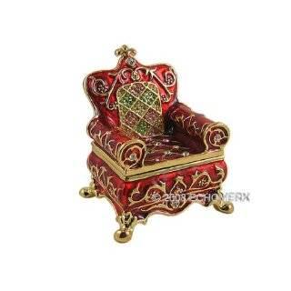 Box Swarovski Crystals 24K Gold Jewelry, Trinket or Pill Box FREE