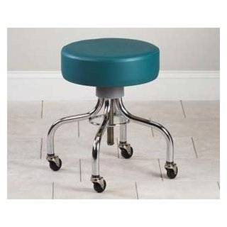 Medical Deluxe Wheeled Round Stool, Black