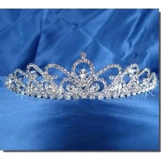 Bridal Wedding Tiara Crown With Crystal Drop 29956 Beauty