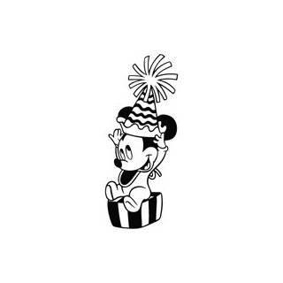 Minnie Mouse Baby Happy Birthday   Cartoon Decal Vinyl Car