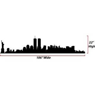 New York City Skyline Silhouette  Large  Vinyl Wall Decal