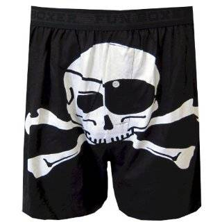 Black and White Skulls Boxer Shorts for men Clothing