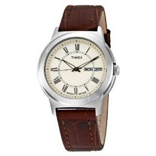 Timex Mens T2E561 Classic Black Leather Strap Watch Timex Watches