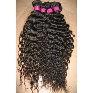 Authentic Virgin Brazilian Remy Hair Curly/deep Wave 16 #1b: Beauty