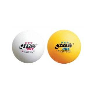 DHS 2 Star Table Tennis Balls, 6 Pack (White/Orange), 40mm