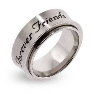 Sterling Silver Unisex Best Friend Forever Ring Size 11