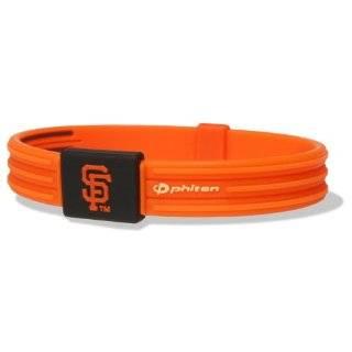 Phiten MLB Authentic Bracelet, San Francisco Giants, Medium (6.75