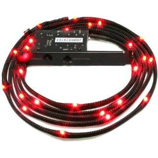 NZXT Sleeved LED Case Light Kit (Red) 2 Meter CB LED20 RD by Nzxt