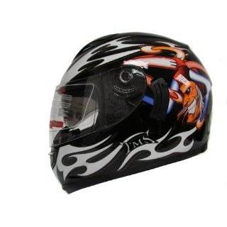 Dual Visor Full Face Motorcycle Street Sport Bike Helmet DOT (X Large