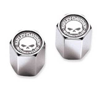 Harley Davidson Willie G Skull Chrome Valve Stem Caps 41171 03