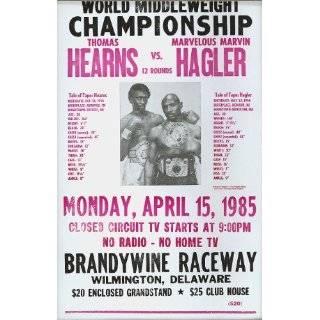 Las Vegas Tommy Hearns vs Marvin Hagler Poster 1985: Sports & Outdoors