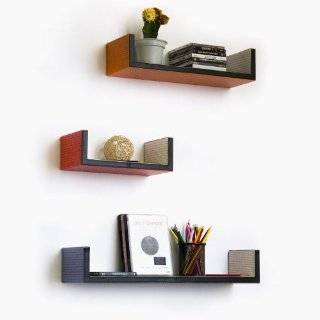 Trista   [Blue Green Giraffe] Rectangle Leather Wall Shelf