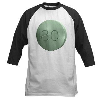 Oxycontin 80mg Green Pill Baseball Jersey by WingDingDesigns