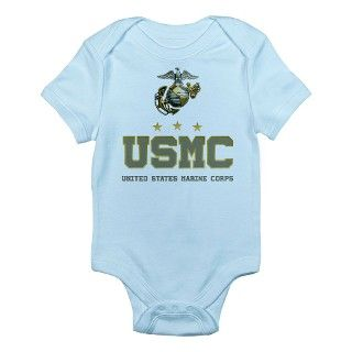 Army Gifts > Army Baby Clothing > USMC   Eagle Globe Anchor Infant