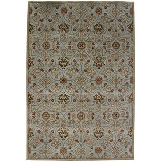 Hand tufted Malcais Blue Wool Rug (8 x 11)