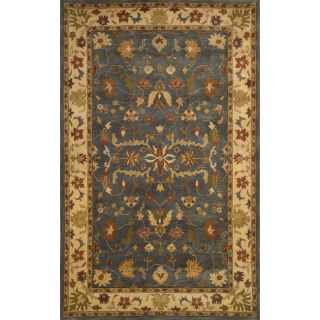 Hand tufted Anatolia Blue Wool Rug (5 x 8)