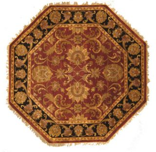 Hand knotted Wool Lal Rug (8 Octagon)
