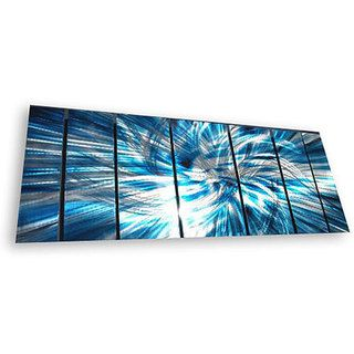 Ash Carl Highlight 7 panel Abstract Metal Wall Art