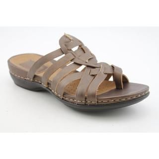 Clarks Artisan Womens Sennett Melody Leather Sandals   Wide