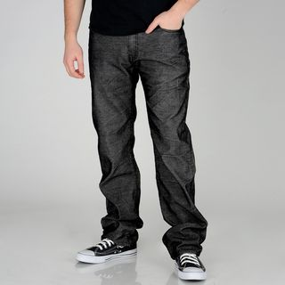 Ray Jeans Mens Washed Black Corduroy Pants