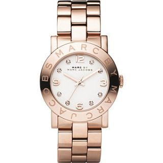MBM3077 Amy rose gold plated watch   MARC BY MARC JACOBS   Designer