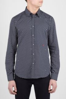 Moschino  Navy Rock Star Print Shirt by Moschino