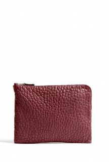 CALA & JADE   Batu Bordeaux Small Zip Top Clutch by CALA & JADE