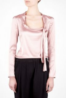 Pink Scoop Neck Collar Bow Blouse by D&G