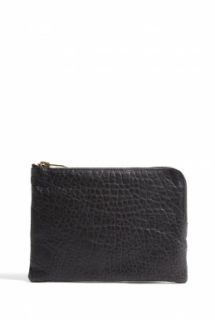 CALA & JADE   Batu Black Small Zip Top Clutch by Cala & Jade