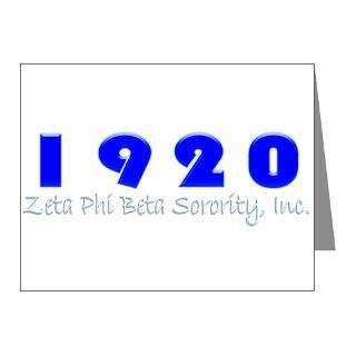 Zeta Phi Beta Sorority Thank You Note Cards