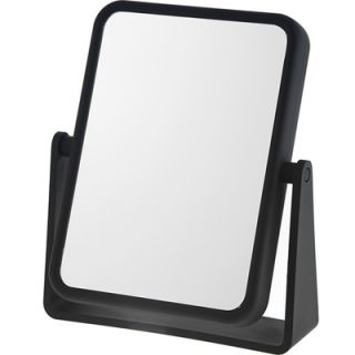 Danielle Midnight Matte Rectangular Vanity Mirror   7x Magnification