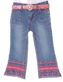 Bongo Toddler Girls Embroidery Denim Jeans