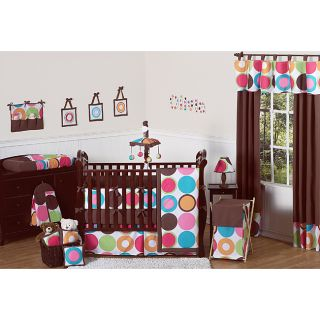 Deco Dot Modern Baby Girls Bedding 11 piece Crib Set