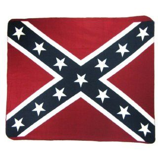 Confederate Flag Fleece Throw Blanket Rebel Dixie: Home & Kitchen