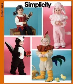 Simplicity Costume Pattern Infants and Children Rabbit