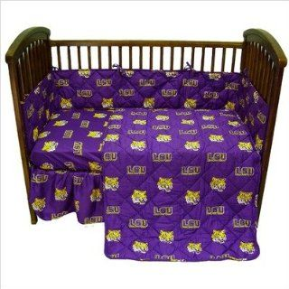 Bundle 29 LSU Crib Bedding Set: Home & Kitchen