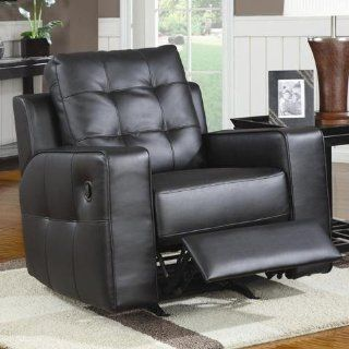 Tempe Contemporary Black Bonded Leather Recline   coaster
