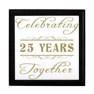 Celebrating 25 Years Together Gift Box