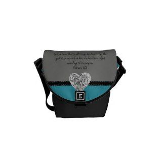 Bible Verse Romans 8:28 Retro Messenger Bag