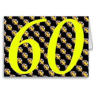 Happy 60th Birthday sixties sixty 60 60th beer Greeting Card