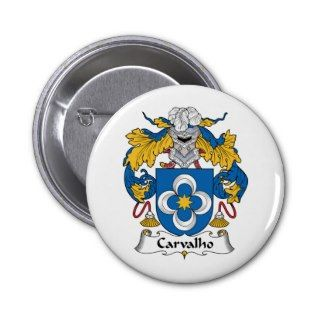 Carvalho Family Crest Buttons
