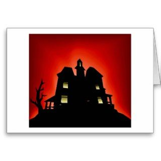 Creepy Haunted House Cards