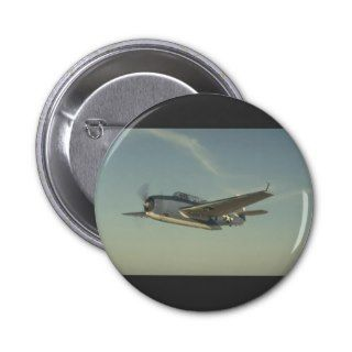 Grumman TBM Avenger Chino Air Museum Pinback Button
