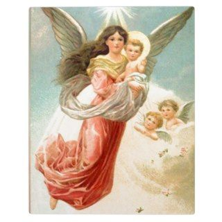 Guardian Angel with Children Display Plaque