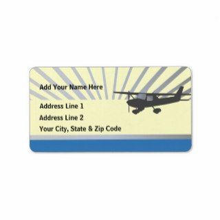 Cessna 150 Airplane Personalized Address Label