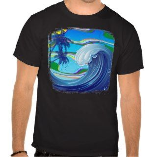 Sea Ocean big Wave Water dark t shirt